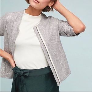 ANTHROPOLOGIE DOLAN SILVER SPARKLE JACKET XL